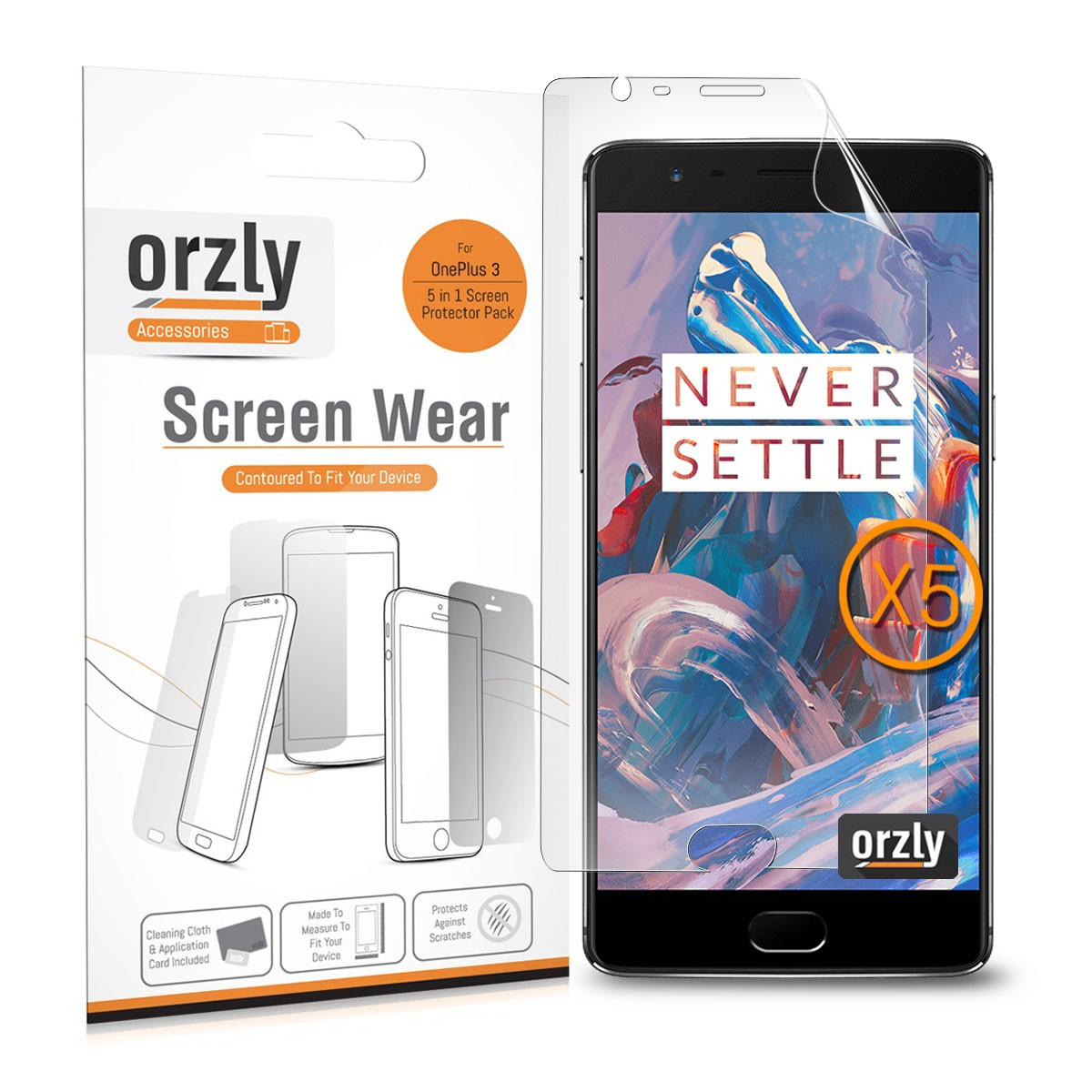 Orzly Screen Wear Pack for OnePlus 3